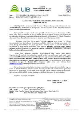 Sirküler No: 218 __ HEIMTEXTIL RUSYA EYLÜL 2016