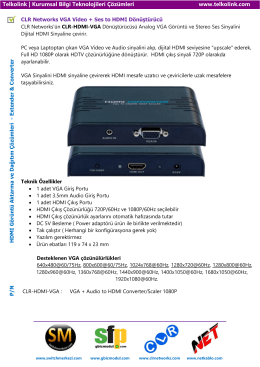 VGA Video + Ses to HDMI Dönüştürücü