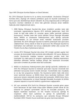 IOC Mektubu tercümesi