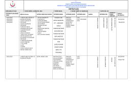 eğitim planı - TC Sağlık Bakanlığı 29 Mayıs Devlet Hastanesi
