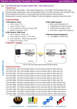 FXS/FXO Serisi Analog Telefon Hattı - Fiber Optik Çevirici