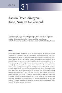 Aspirin Desensitizasyonu: Kime, Nasıl ve Ne Zaman?
