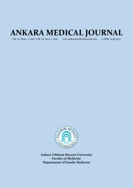 133 - Ankara Medical Journal