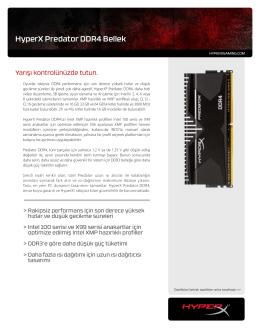 HyperX Predator DDR4 Bellek