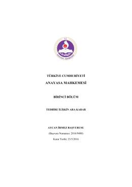 2016/9400 - Anayasa Mahkemesi