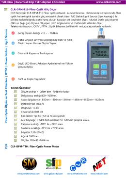 CLR-OPM-T10 Fiber Optik Güç Ölçer