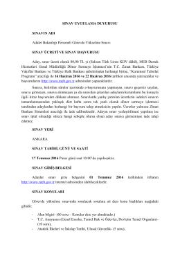 adalet bakanlığı sınav uygulama duyurusu