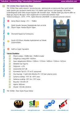 TM-103NA Fiber Optik Güç Ölçer