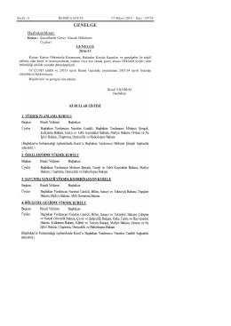 Kurullarda Görev Alacak Hükümet Üyeleri ile İlgili 2016/13 Sayılı