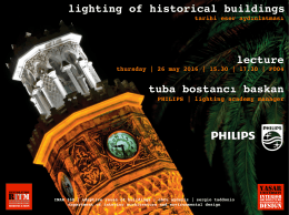 lighting of historical buildings lecture tuba bostancı baskan