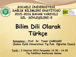 Slayt 1 - Kocaeli Üniversitesi