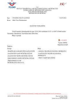 22.05.2016 - Devlet Demir Yollari 6.Bölge