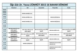Öğr.Gör.Dr. Yavuz ZÜMRÜT 2015
