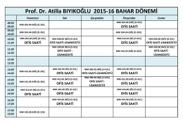 Prof. Dr. Atilla BIYIKOĞLU 2015