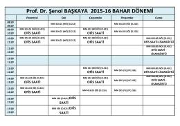 Prof. Dr. Şenol BAŞKAYA 2015