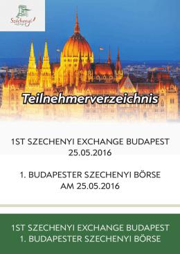 Résztvevök 24.05.2016 - Szechenyi Exchange Budapest