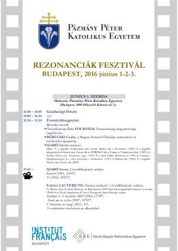rezonanciák fesztivál - Károli Gáspár Református Egyetem