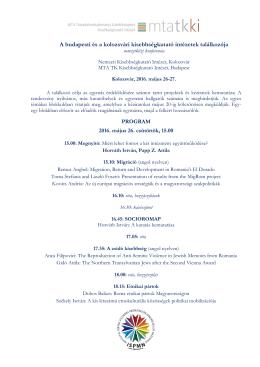 A budapesti és a kolozsvári kisebbségkutató intézetek találkozója