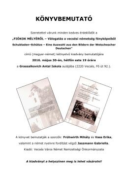 könyvbemutató - Grassalkovich Antal Általános Iskola