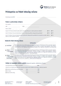 Pristupnica - startPaket i ePaket - Hypo Alpe-Adria