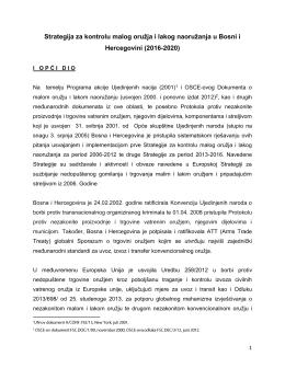 Strategija - Ministarstvo sigurnosti Bosne i Hercegovine