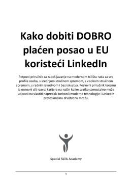 Kako dobiti DOBRO plaćen posao u EU koristeći LinkedIn
