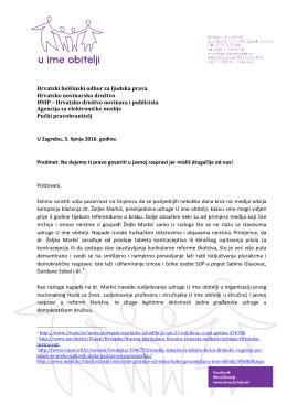 Hrvatski helšinski odbor za ljudska prava Hrvatsko