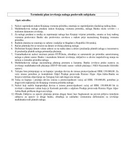 Terminski plan izvršenja naloga - Hypo Alpe-Adria