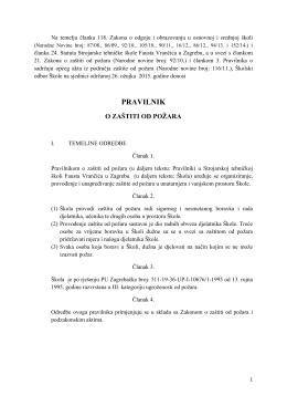 pravilnik - Strojarska tehnička škola Fausta Vrančića