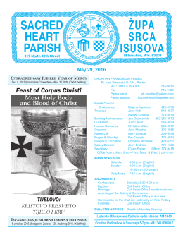 Feast of Corpus Christi - Sacred Heart Parish, Milwaukee, Wisconsin