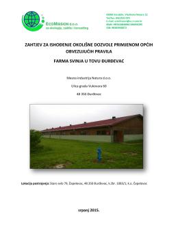 Zahtjev okolisna dozvola_farma svinja_Natura_Djurdjevac