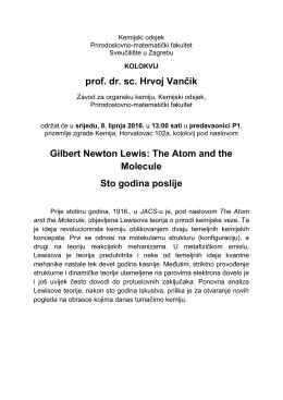 predavanje - Sveučilište u Zagrebu