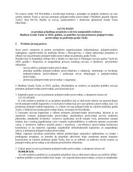 Javni poziv za predaju prijedloga projekata u okviru