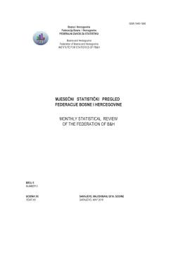 issn 1840-1600 - Federalni zavod za statistiku