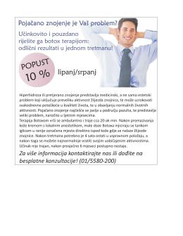 TERAPIJA PROTIV ZNOJENJA: Botox tretman protiv