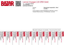 Lancia Voyager 2,8 CRD Gold