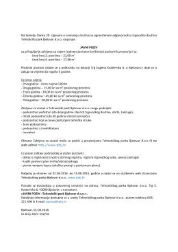javni poziv - Potkrovlje ured 3 i 4 - 01-06