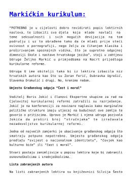 Markićkin kurikulum