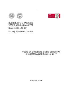 251-61-01/139-16-1 VODIČ ZA STUDENTE ZIMSKI SEMES
