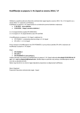 Kvalifikacije za popunu 3. HL Zapad - slavonija