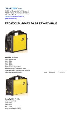 promocija aparata za zavarivanje