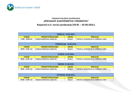 Raspored predavanja – SSiP Mostar2