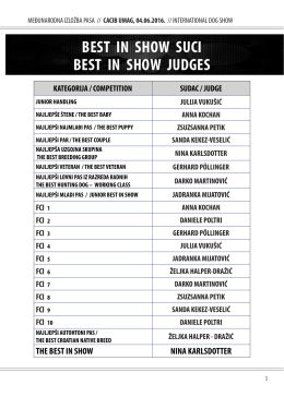 best in show suci best in show judges - HKS-a