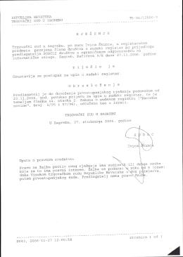 Prilog 6 Rješenje Trgovačkog suda u Zagrebu od 27