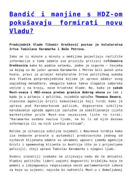 Bandić i manjine s HDZ-om pokušavaju formirati novu