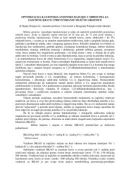 OPTIMIZACIJA KATJONSKO-ANJONSKE RAZLIKE U OBROCIMA
