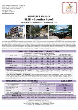 BLED – Sportina hoteli