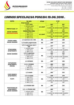 Limnos Specijal Cenovik 19.06