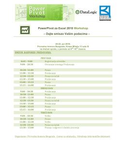 PowerPivot za Excel 2010 Workshop – Dajte smisao Vašim podacima