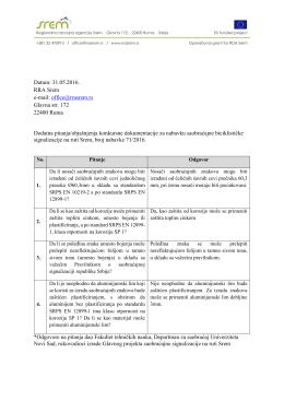 Pitanja i odgovori - Regionalna Razvojna Agencija Srem